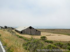 old barn along the coast