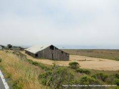 old barn along the coast