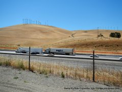 view of I-580 & wind mills