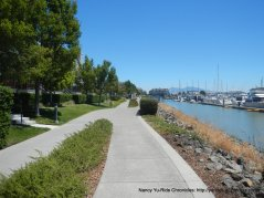 path along the marina