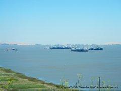 view of Mothball Fleet-Suisun Bay