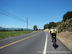flat-rolling terrain Silverado Trail