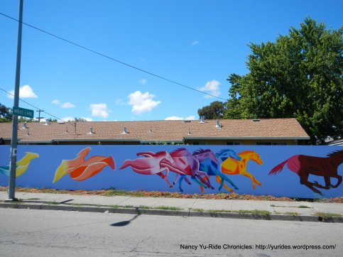colorful horse murals