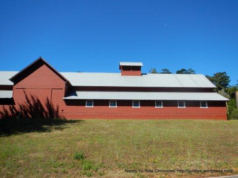 red barn at Bear Valley Visitor Center