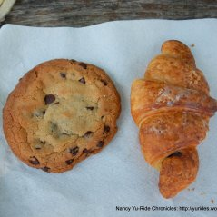 chocolate chip cookie & chocolate croissant