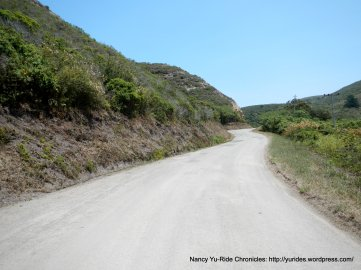 gentle climb up Pomponio Creek Rd