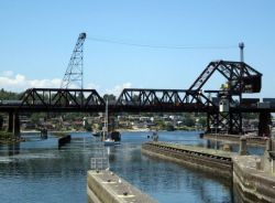 Ballard Locks drawbridges