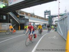 bicycle commuters from Bainbridge Island