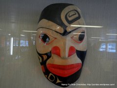 tribal mask aboard ferry