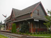 old train depot style residential home