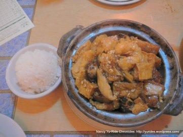 fish claypot with pork belly