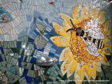 colorful restroom mosaic