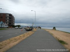 on Alki Trail along Harbor Ave SW