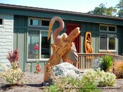 pelican wood carving