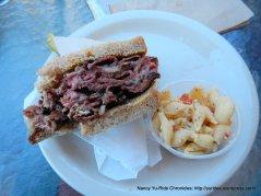pastrami sandwich & pasta salad