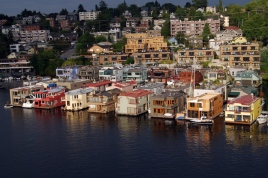 view of house boats-Gas Works Park