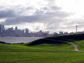 view of Seattle from Gas Works P