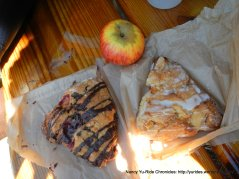 chocolate berry scone & Meyer lemon peach scone