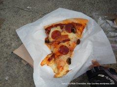 pepperoni mushroom bacon pizza