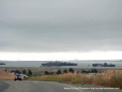 view of Suisun Bay & Mothball Fleet