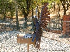 post box humming bird