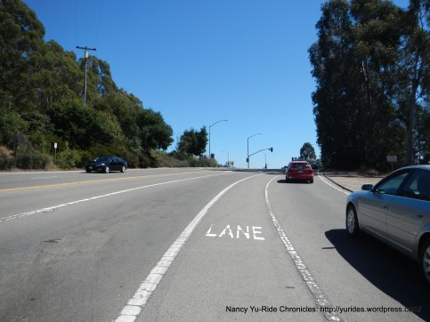 merge to center bike lane