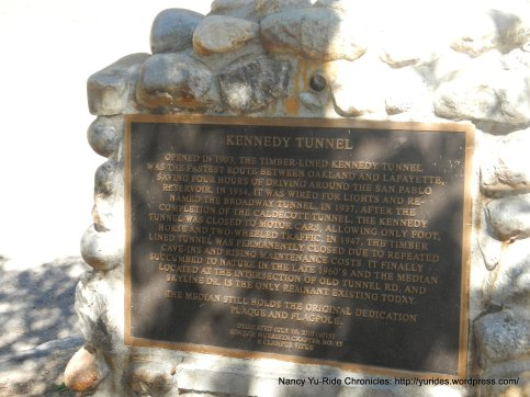 Old Tunnel Rd plaque
