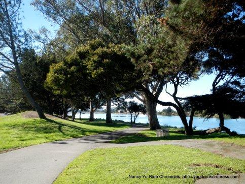 Bay Trail through park