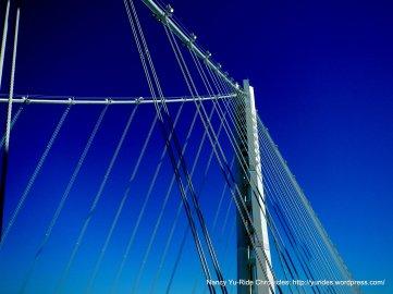 suspension tower on bridge