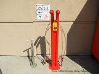 work bike stand & pump