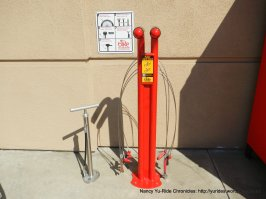 work bike stand & pump