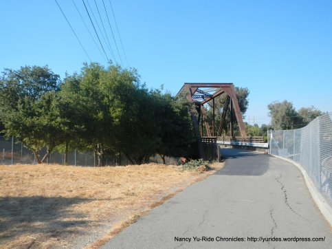 Iron Horse trestle over creek & Arroyo Blvd