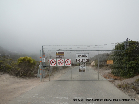 end of raod at Point Buchon Trail
