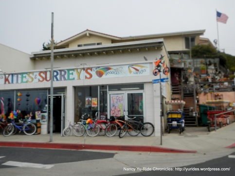 colorful kites/bike rentals