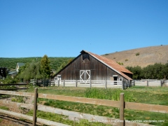 classic looking wooden barn
