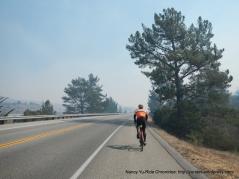 CA-1 S smoky haze from control burn