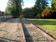 RR tracks along Vine St