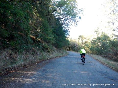 begin steep 1.2 mile climb