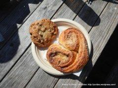 chocolate chip cookie & butterhorn