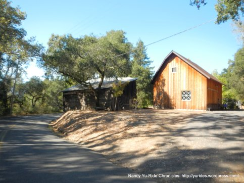 old & new barn