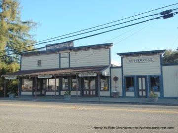Geyserville building facades