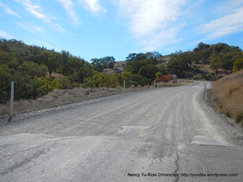 short loose gravel section