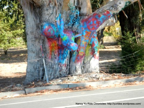colored tree trunk