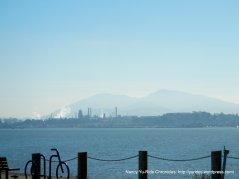 view of Mt Diablo & refineries
