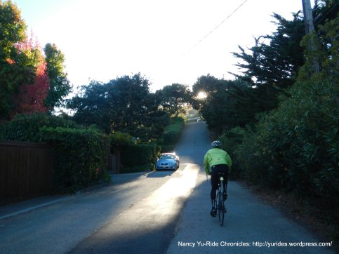 steep 21% climb to Strawberry Dr