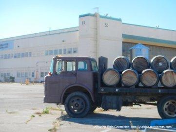 old wine merchant truck