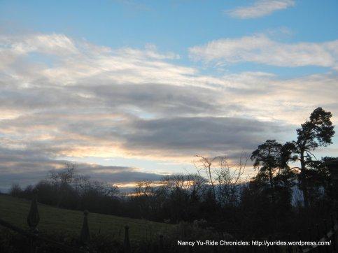 sunrise over Stratford -upon-Avon
