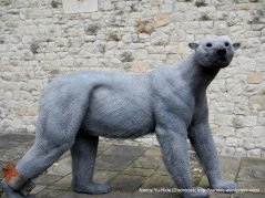 wired polar bear sculpture
