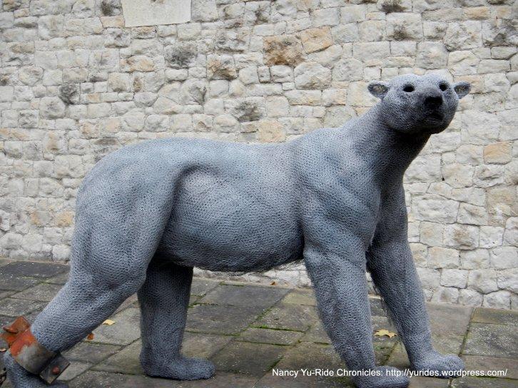 wired polar bear sculpture