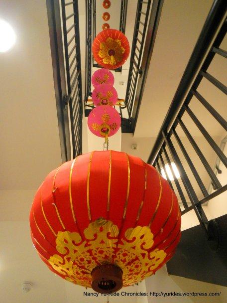 festive red lanterns
